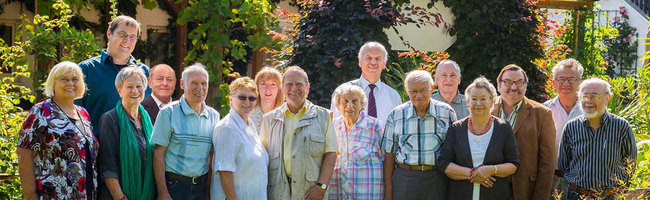 Mitglieder des Geschichtsvereins anlässlich der Feier zum 10-jährigen Jubiläum im Juli 2015