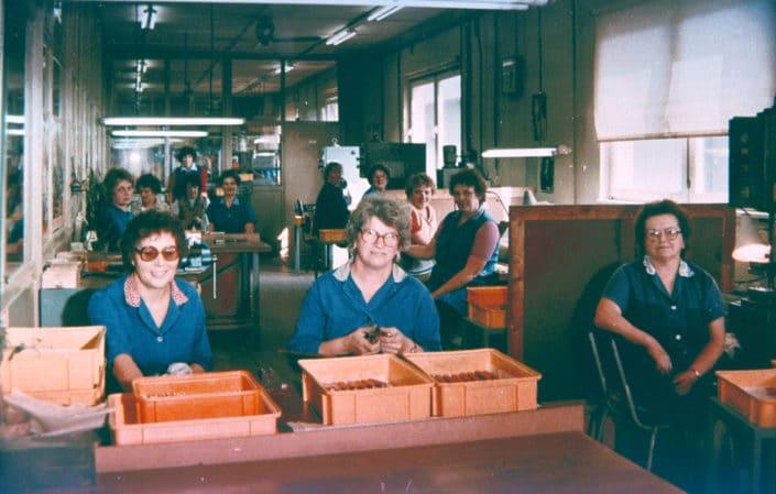 Arbeitsplätze in der Messerschmiede