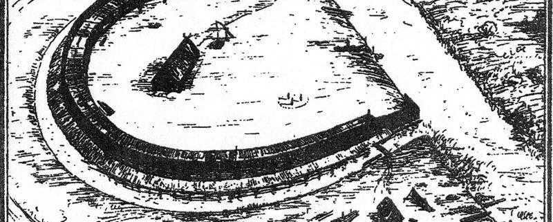 Rekonstruktionsversuch von Burgwall und Siedlung