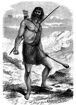 Porträt eines Steinzeitmenschen (Stich, 1885) © Erica Guilane-Nachez/fotolia.de