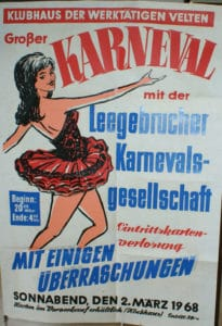 Karnevalsplakat aus dem Jahr 1968