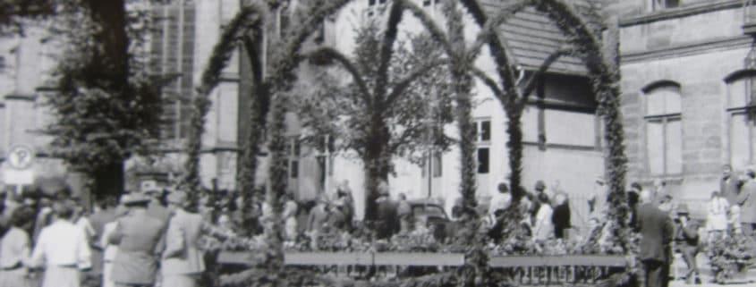 75-jähriges Jubiläum der Freiwilligen Feuerwehr 1956
