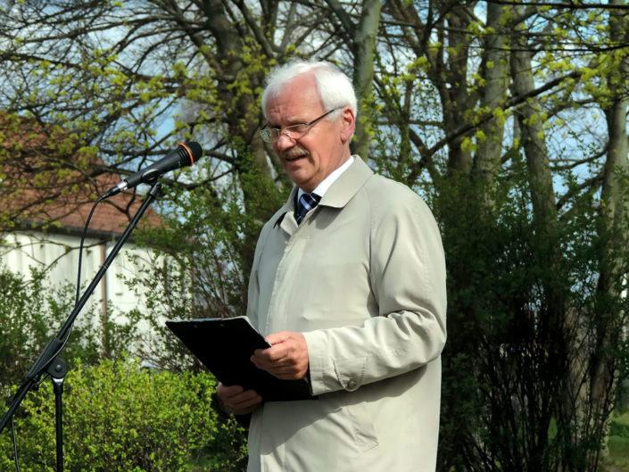 Dr. Norbert Rohde, Geschichtsverein Leegebruch, Foto Hajo Eckert