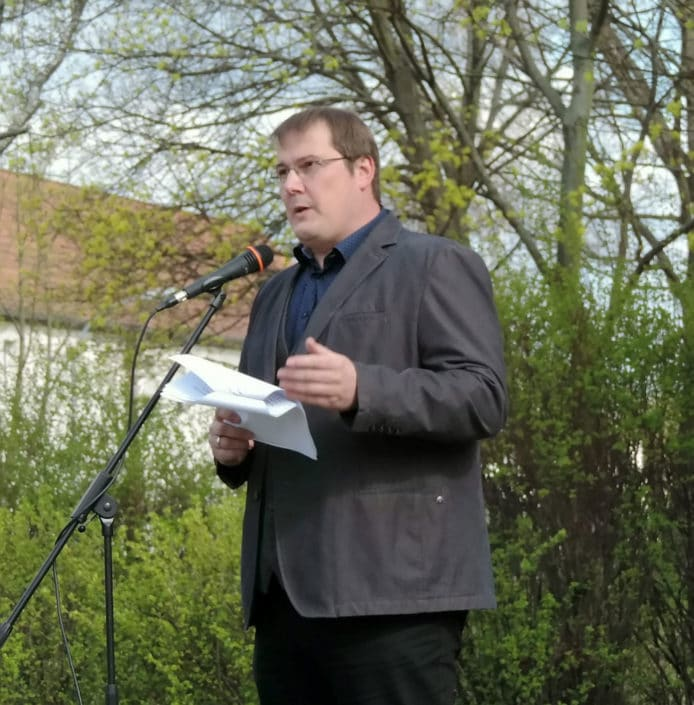 Giso Siebert, Vorsitzender der Gemeindevertretung, Foto Hajo Eckert