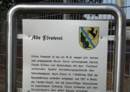 """Info-Tafel """"Alte Försterei"""""""