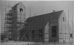 Katholische Kirche während der Bauphase