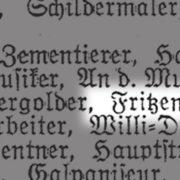 Ausschnitt aus einem Adressverzeichnis des Jahres 1939