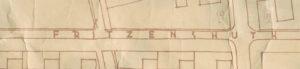 """In einem Adressbuch aus dem Jahr 1939 und einem """"Bauplan"""" der Heinkel-Siedlung Leegebruch (1936/37) ist unter anderem die damalige Straßenbezeichnung """"Fritzenshuth"""" dokumentiert."""