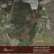 Luftbildaufnahme vom April 2015 (© geoplana Ingenieurgesellschaft mbH mit freundlicher Unterstützung der Gemeinde Leegebruch bereitgestellt)