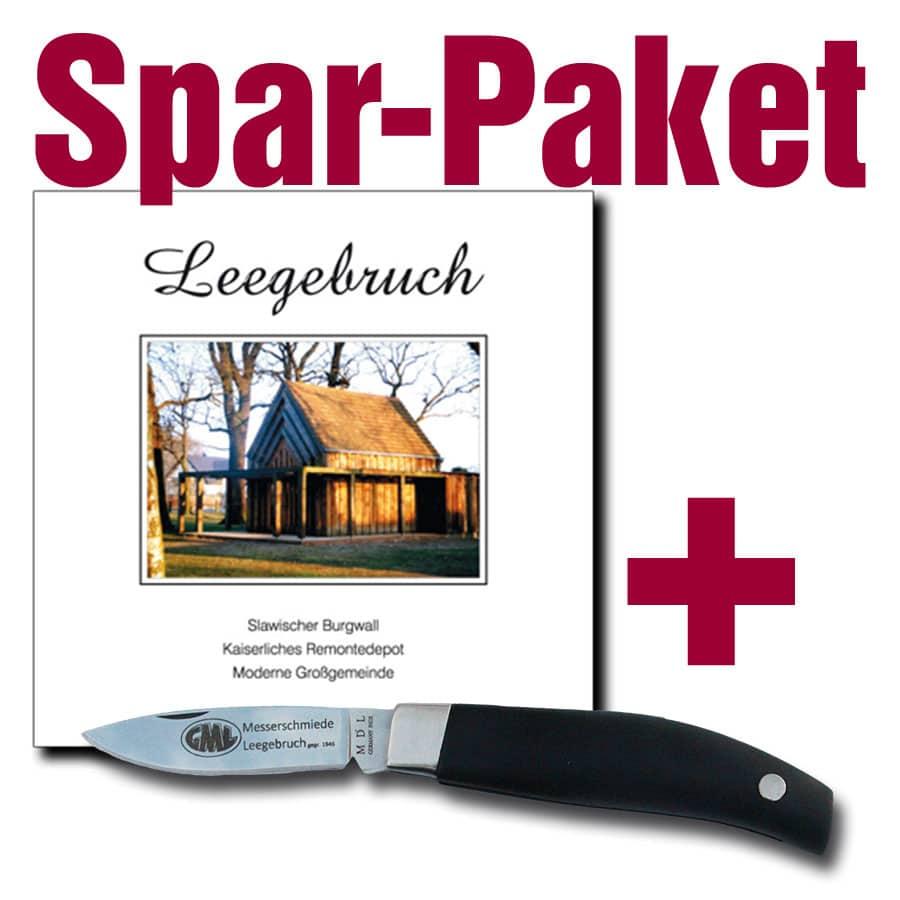 Taschenmesser + Leegebruch-Buch (Spar-Paket)