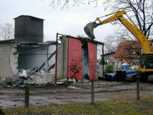 Abriss des alten Depots 26. November 2002 (Foto: Liane Protzmann)