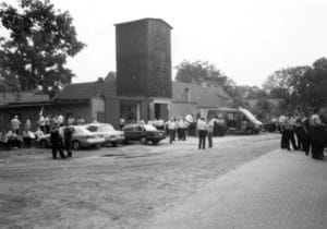 Feuerwehrdepot in der Dorfaue in den 1980er und Anfang der 1990er Jahren (Foto: Geschichtsverein)