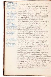 Schulchronikeintrag vom Mai 1923: Denn nach 1920 zu Zeiten der Emporgenossenschaft soll hier ein alter Lederfeuereimer vorhanden gewesen sein, der die Jahreszahl 1843 oder 1845 getragen haben soll. Über seinen Verbleib ist leider nichts zu ermitteln.