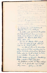 Schulchronik 1928: linke Seite