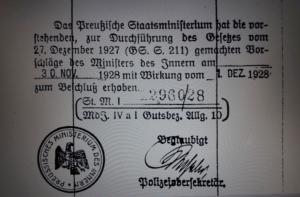 Mit diesem Stempel war alles klar – auch für Leegebruch als ehemaligem Gutsteil von Bärenklau (Quelle: Brandenburgisches Landeshauptarchiv (BLHA), Rep. 2A Regierung Potsdam I, Kom. Nr. 1834)