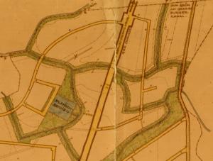 Die Eichenallee sollte nach Osten bis zum Moorgraben verlängert und erschlossen werden. (Veröffentlichung mit freundlicher Genehmigung der Gemeindeverwaltung Leegebruch)