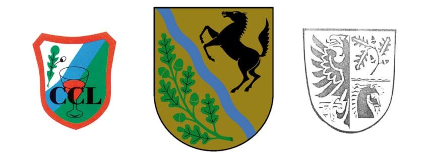 CCL-Wappen, Leegebruch-Wappen und ENtwurf eines Leegebruch-Wappens