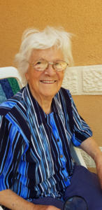 Irmgard Färber, geb. Piepke, 91-jährig im Jahr 2020